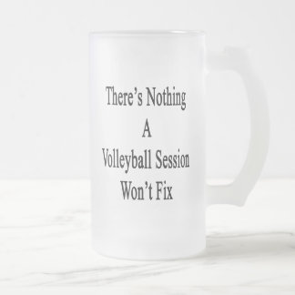 There's Nothing A Volleyball Session Won't Fix Frosted Glass Beer Mug