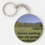there's nothing like the great outdoors keychains