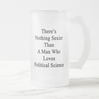 There's Nothing Sexier Than A Man Who Loves Politi 16 Oz Frosted Glass Beer Mug