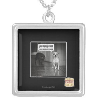 There's nothing to be scared of silver plated necklace