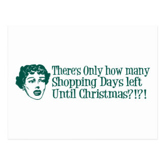 There's Only How Many Shopping Days 'Til Christmas Postcard