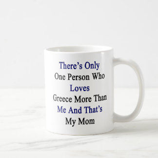 There's Only One Person Who Loves Greece More Than Coffee Mug