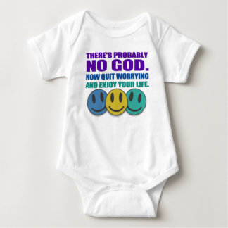 There's probably no god. baby bodysuit