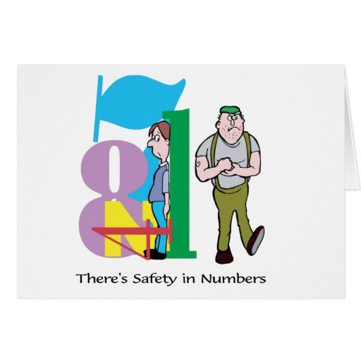 There's Safety In Numbers - Word Play Card
