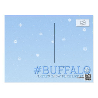 """There's """"Snow"""" Stopping us now Buffalo Postcard"""