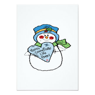 Theres Snowflake Like Home 5x7 Paper Invitation Card