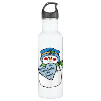 Theres Snowflake Like Home Water Bottle