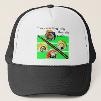 There's something fishy about this sushi trucker hat
