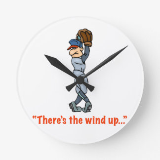 """There's the wind up..."" Medium Wall Clock"