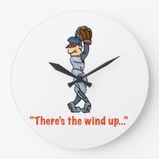 """There's the wind up..."" Wall Clock"