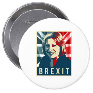 Theresa May Brexit - -  Pinback Button