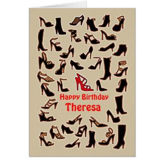 Theresa Shoes Happy Birthday Card