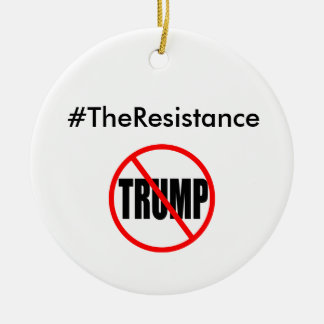 #TheResistance Ceramic Ornament