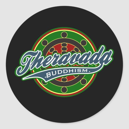 Therevada Buddhism Classic Round Sticker