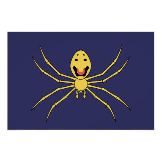 Theridion grallator AKA Happy Face Spider Print