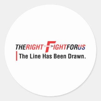 TheRightFightForUS w/ Tagline Stickers
