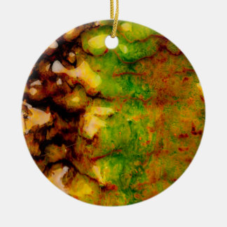 Thermal ecosystem Double-Sided ceramic round christmas ornament