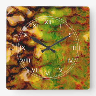 Thermal ecosystem square wall clock