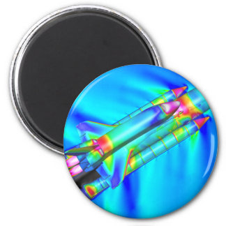THERMAL IMAGE ATLANTIS SPACE SHUTTLE 2 INCH ROUND MAGNET