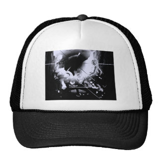 thermal image pin point light trucker hat