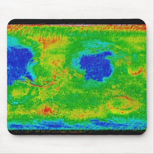 Thermal Inertia Map of Mars Mousepad