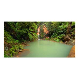 Thermal natural pool photo card