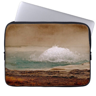 THERMAL POOL ACTIVITY IN YELLOWSTONE NATIONAL PARK LAPTOP COMPUTER SLEEVES