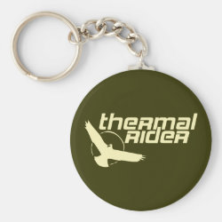 Basic Button Keychain with Thermal Rider design