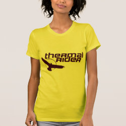 Women's American Apparel Fine Jersey Short Sleeve T-Shirt with Thermal Rider design