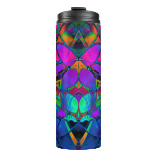 Thermal Tumbler Floral Fractal Art
