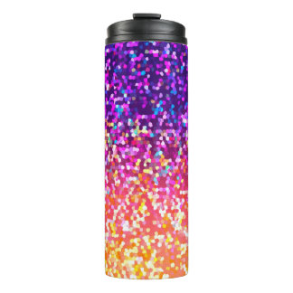 Thermal Tumbler Glitter Graphic