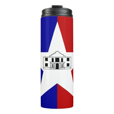 Thermal Tumbler with flag of San Antonio