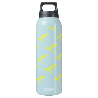 Thermo- blue yellow (penguin swimming) insulated water bottle
