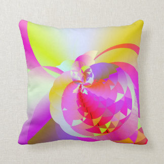 Thermo Nuclear Pink Tossed Throw Pillow