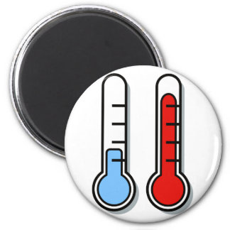Thermometer cold hot coldly warmly magnet
