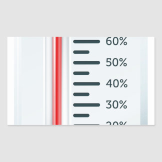 Thermometer illustration rectangle sticker