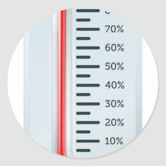 Thermometer illustration stickers