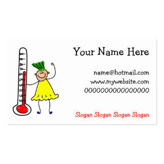 Thermometer Kid Double-Sided Standard Business Cards (Pack Of 100)