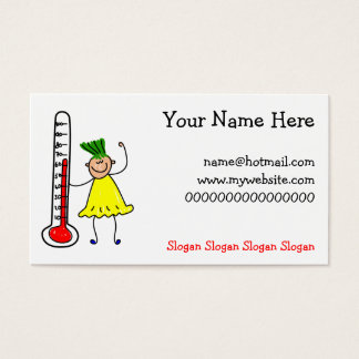 Thermometer Kid Business Card