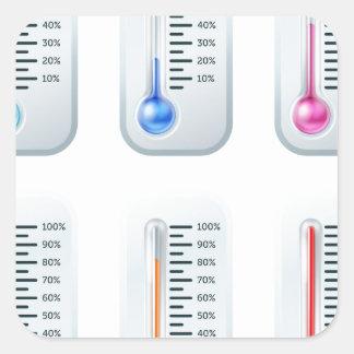 Thermometer series set sticker