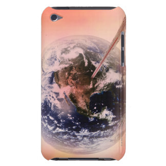 Thermometer sticks in the earth. barely there iPod cases