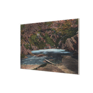 Thermopolis, WY - Big Horn Hot Springs View Canvas Print