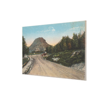 Thermopolis, WY - View of Big Horn Driveway Canvas Print