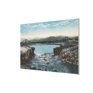 Thermopolis, WY - View of Bridge over Big Horn Canvas Print