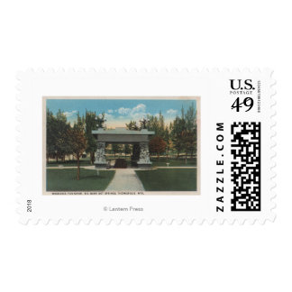 Thermopolis, WY - View of Washakie Fountain Stamps