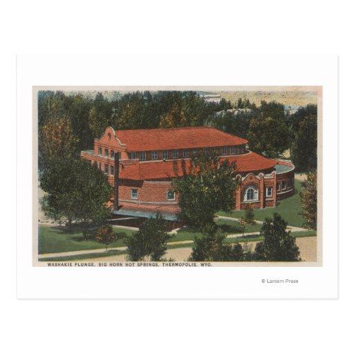 Thermopolis, WY - View of Washakie Plunge Postcard