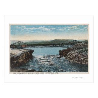 Thermopolis, WY - vista del puente sobre Big Horn Tarjeta Postal