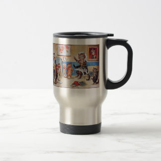 Thermos: Funny Cats:  The Naughty Puss by Louis Wa Travel Mug