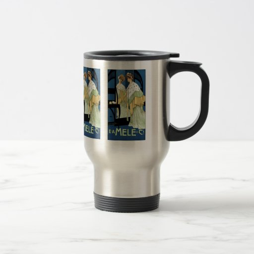 Thermos: Vintage Art - Womens' Fashion - Mele Travel Mug