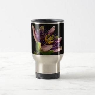 Thermostasse con Passiflora (flor de pasión) Taza De Viaje De Acero Inoxidable